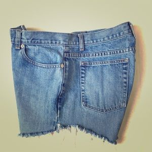 J Crew Cut Off Denim Blue Jean Shorts